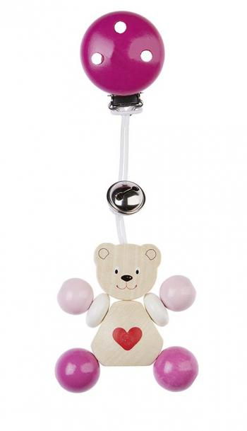 Clip personnage ours petit coeur rose Heimess