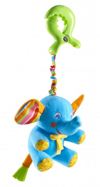 Eléphant bleu clip smart à vibrations Tiny Love